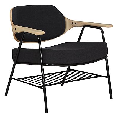 Oliver Hrubiak for John Lewis Finn Lounge Chair, Dark Grey