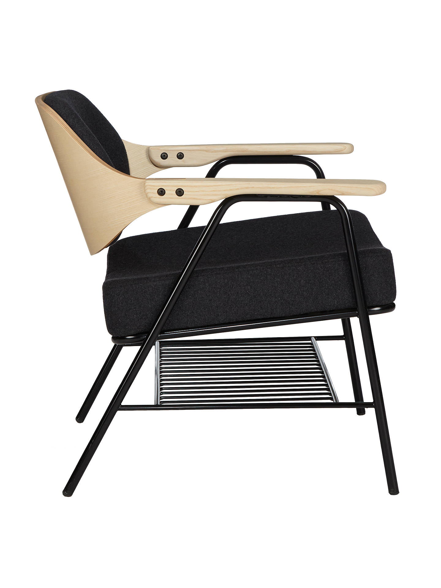 Astonishing Oliver Hrubiak For John Lewis Finn Lounge Chair Dark Grey Dailytribune Chair Design For Home Dailytribuneorg