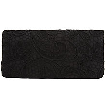 Buy John Lewis Lily Lace Clutch Bag, Black Online at johnlewis.com