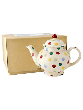 Emma Bridgewater Polka Dot 4 Mug Teapot With Box, Multi