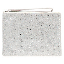 Buy Carvela Gamma Pouch Clutch Bag, Silver Online at johnlewis.com