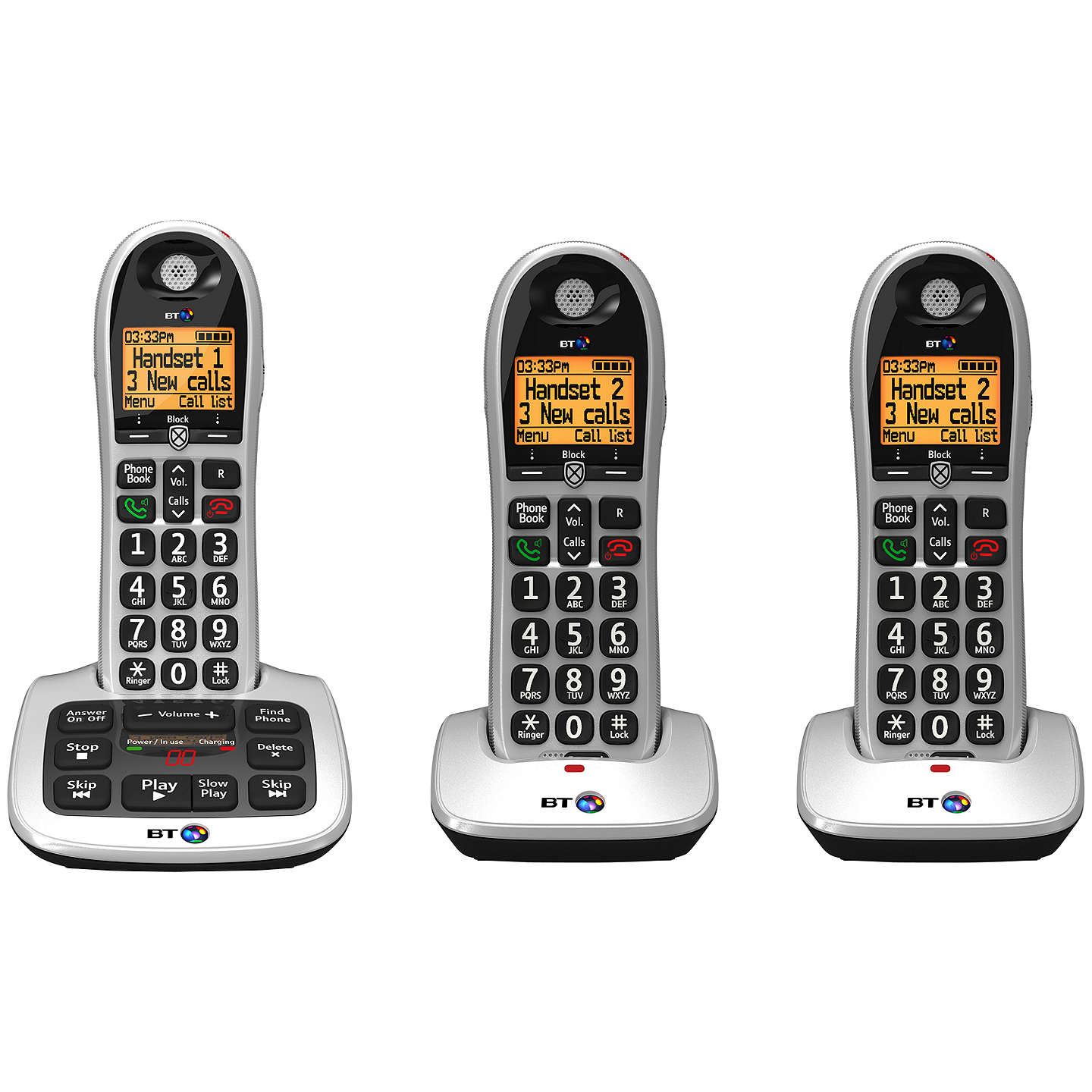 BuyBT 4600 Big Button Digital Cordless Phone With Advanced Call Blocking & Answering Machine, Trio DECT Online at johnlewis.com