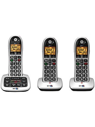 BT 4600 Big Button Digital Cordless Phone With Advanced Call Blocking Answering Machine Trio DECT