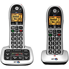Buy BT 4600 Big Button Digital Cordless Phone With Advanced Call Blocking & Answering Machine, Twin DECT Online at johnlewis.com