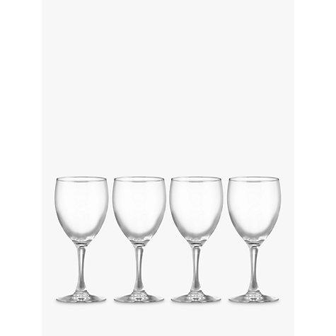 buy john lewis the basics wine glasses set of 4 john lewis. Black Bedroom Furniture Sets. Home Design Ideas