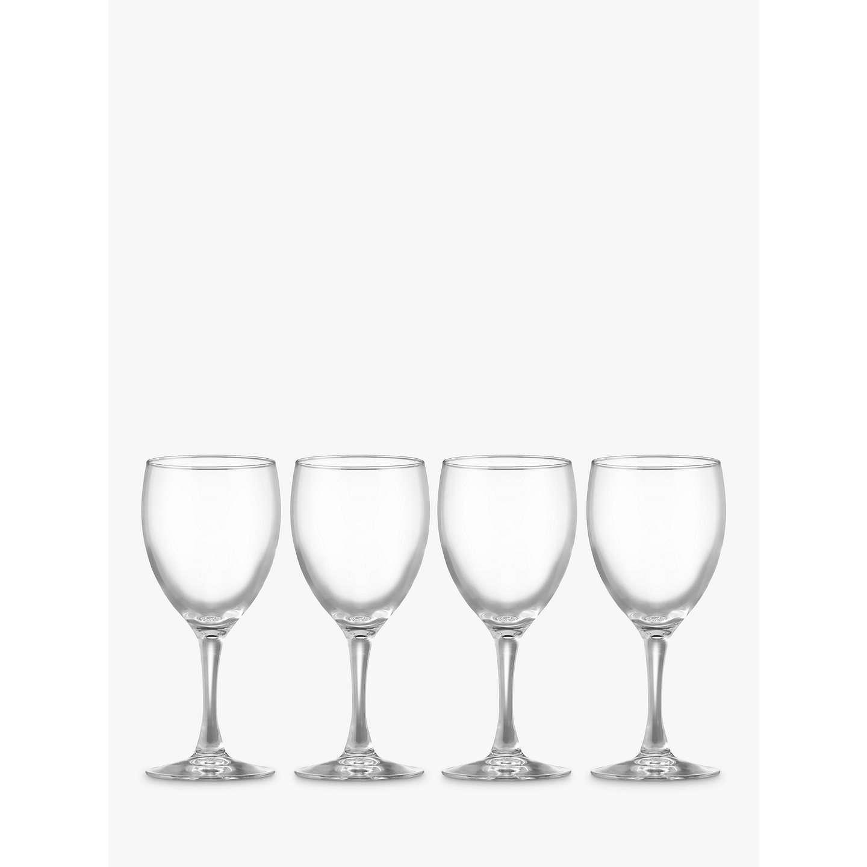 john lewis the basics wine glasses set of 4 at john lewis. Black Bedroom Furniture Sets. Home Design Ideas