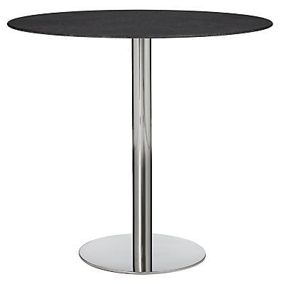 John Lewis Enzo Stone Effect 4 Seater Glass Top Dining Table, Black