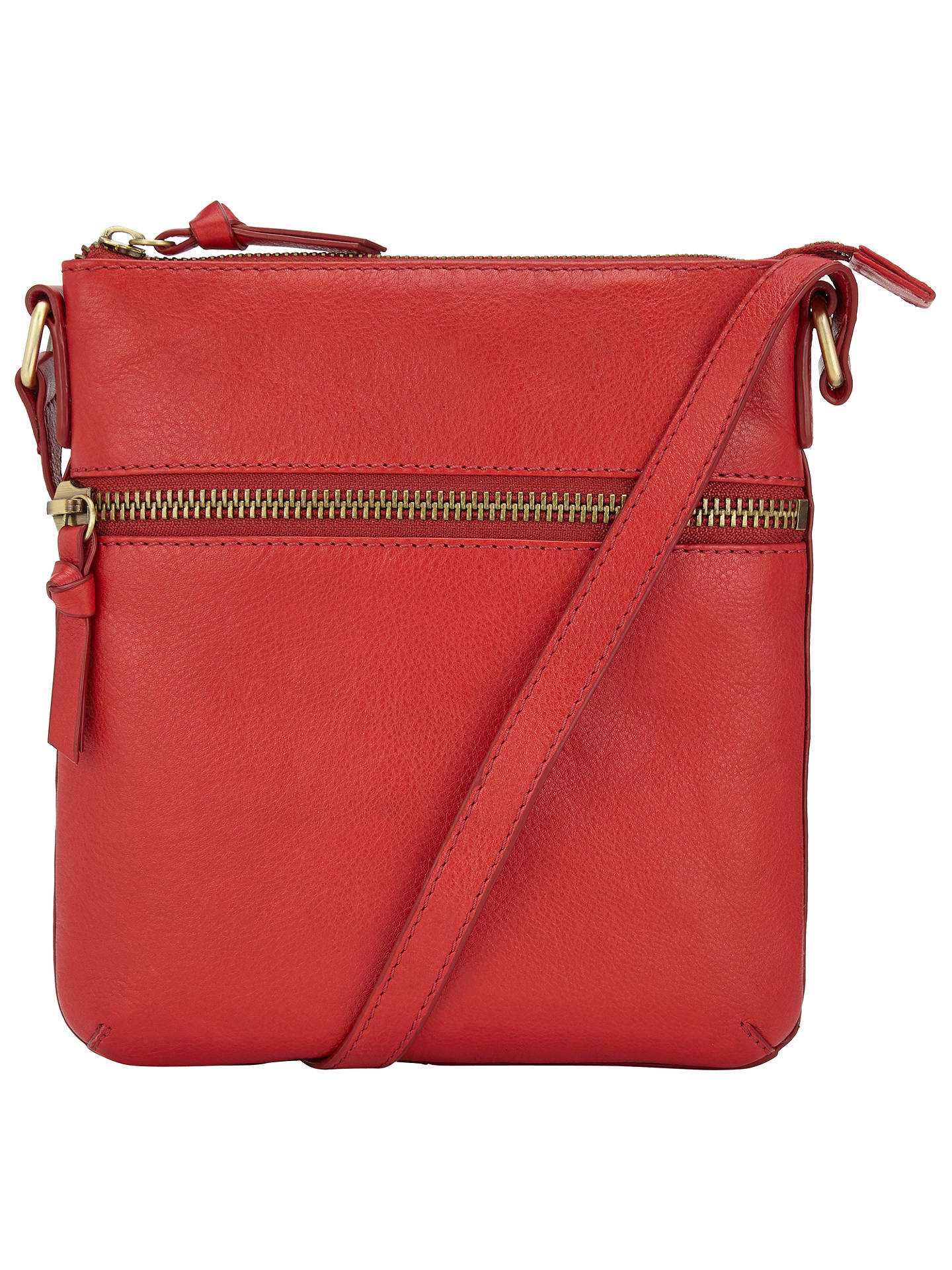 John Lewis Harriet Small Leather Across Body Bag Red Online At Johnlewis