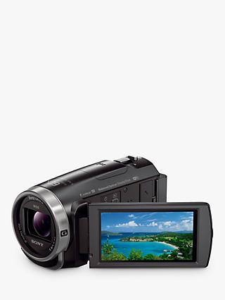 "Sony CX625 Handycam With Exmor R CMOS Sensor, Full HD 1080p, 9.2MP, 30x Optical Zoom, Wi-Fi, NFC, 3"" LCD Screen, Black"