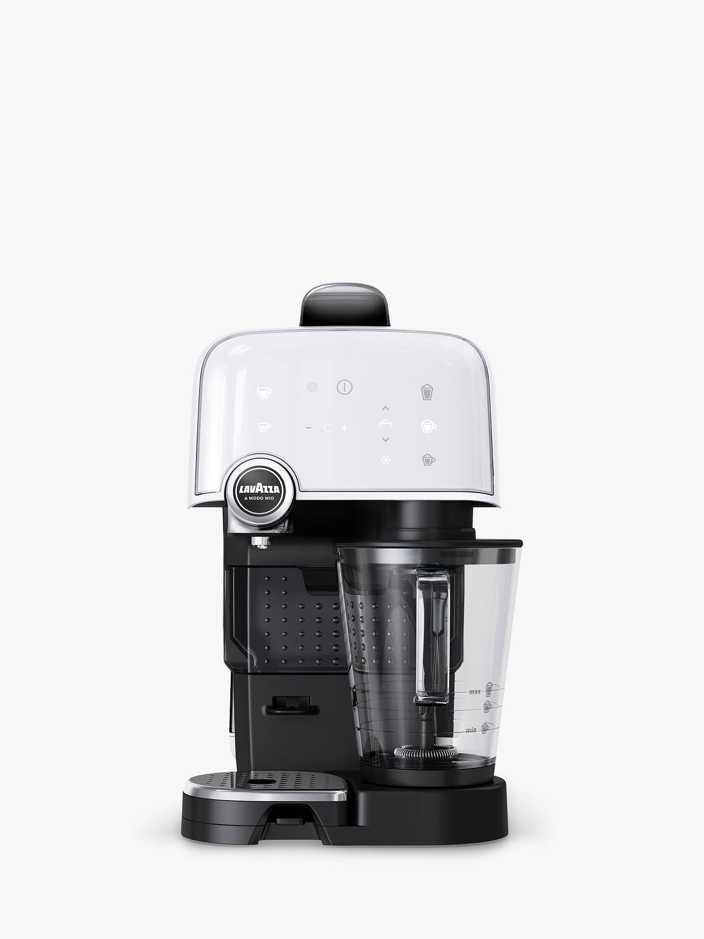 Lavazza A Modo Mio Fantasia Plus Cappuccino Latte Coffee Machine Ice White