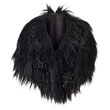 Buy Phase Eight Collection 8 Beaded Faux Fur Cape, Black Online at johnlewis.com