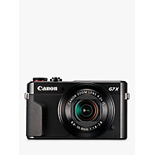 "Buy Canon PowerShot G7 X Mark II Digital Camera, HD 1080p, 20MP, 4.2X Optical Zoom, DIGIC 7 Processor, NFC, Wi-Fi, 3"" LCD Screen Online at johnlewis.com"