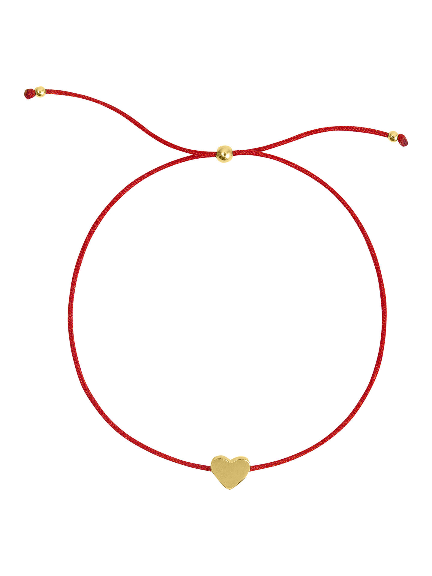 BuySophie by Sophie Heart Cord Friendship Bracelet, Gold/Red Online at johnlewis.com