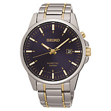 Buy Seiko SKA737P1 Men's Kinetic Date Two Tone Bracelet Strap Watch, Silver/Gold Online at johnlewis.com