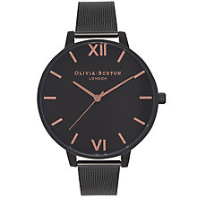 Buy Olivia Burton OB15BD83 Women's After Dark Mesh Bracelet Strap Watch, Black Online at johnlewis.com