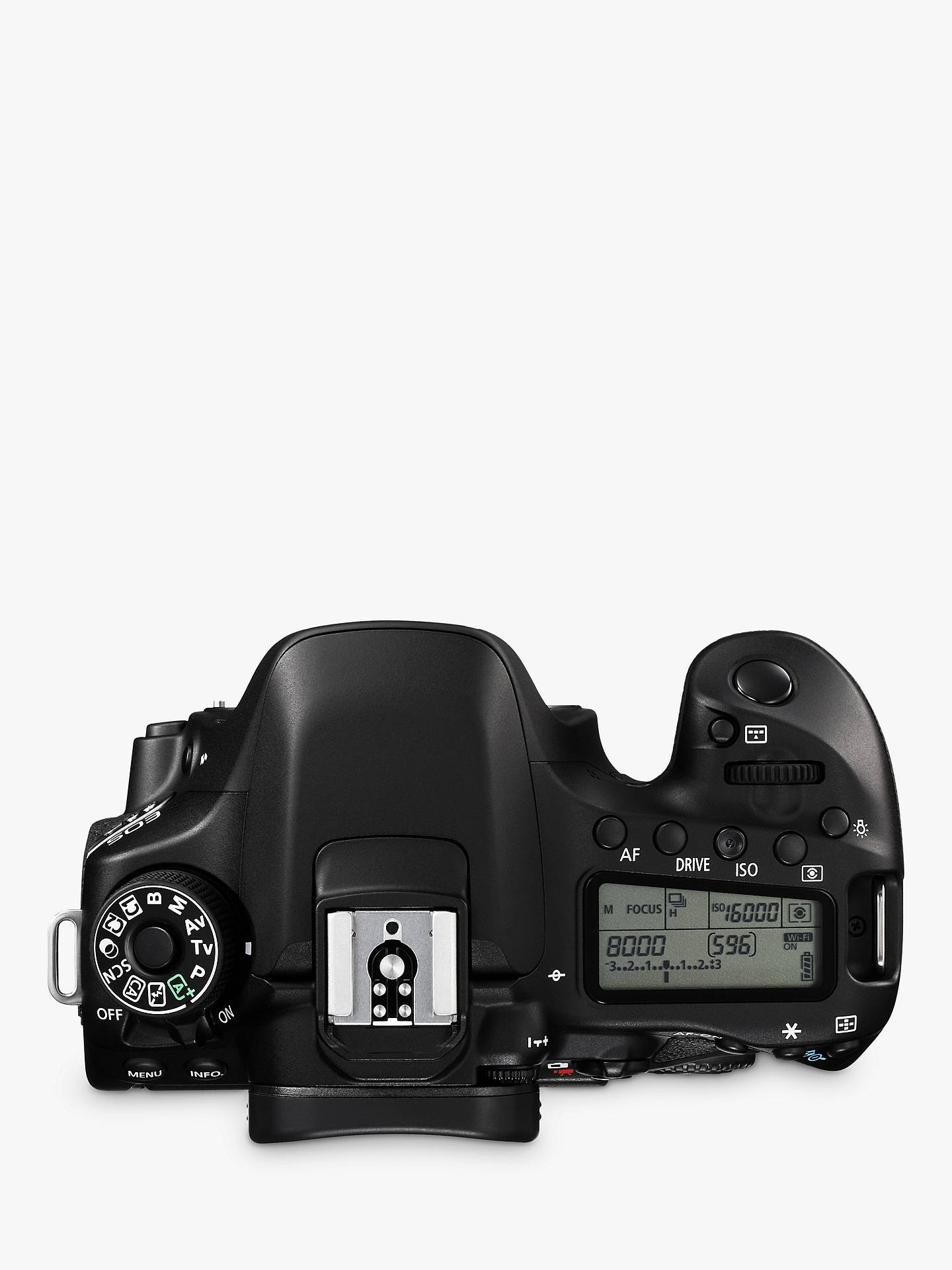 Canon EOS 80D Digital SLR Camera, HD 1080p, 24 2MP, Wi-Fi, NFC With 3