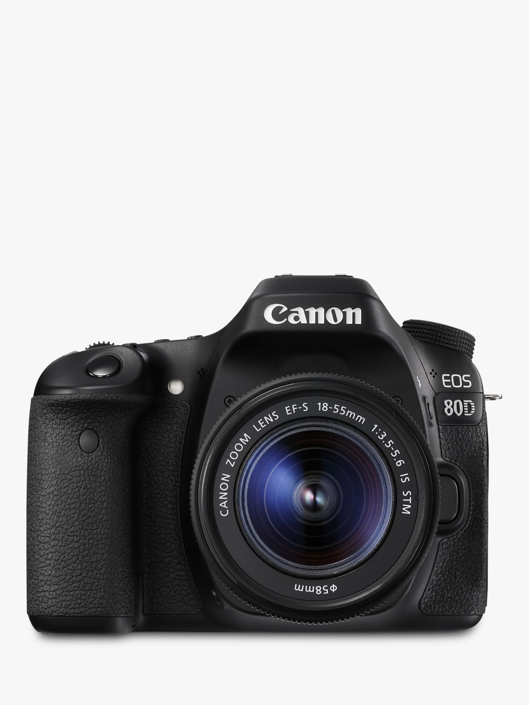 Canon EOS 80D Digital SLR Camera With 18-55mm Lens, HD 1080p, 24 2MP,  Wi-Fi, NFC, 3