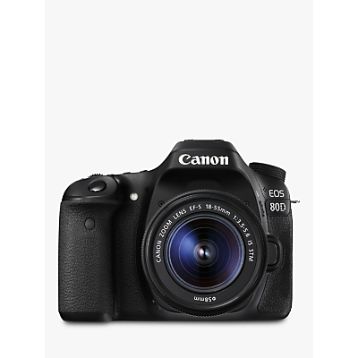 Canon EOS 80D Digital SLR Camera With 18-55mm Lens, HD 1080p, 24.2MP, Wi-Fi, NFC, 3 Vari-Angle Touchscreen