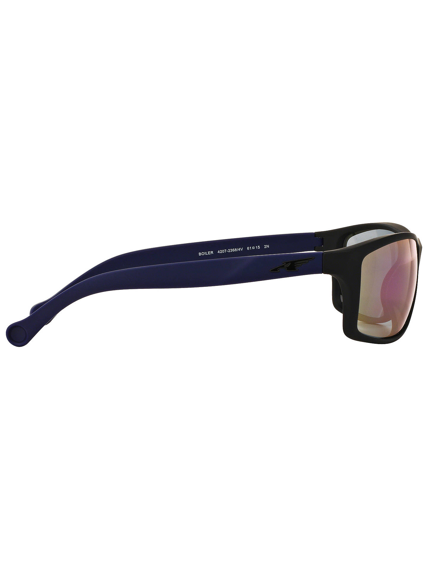 04e1874af92d ... Buy Arnette AN4207 Boiler Rectangular Sunglasses, Black Online at  johnlewis.com