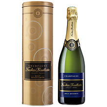 Buy Nicolas Feuillatte Compass Gold Tin Brut Reserve, 75cl Online at johnlewis.com