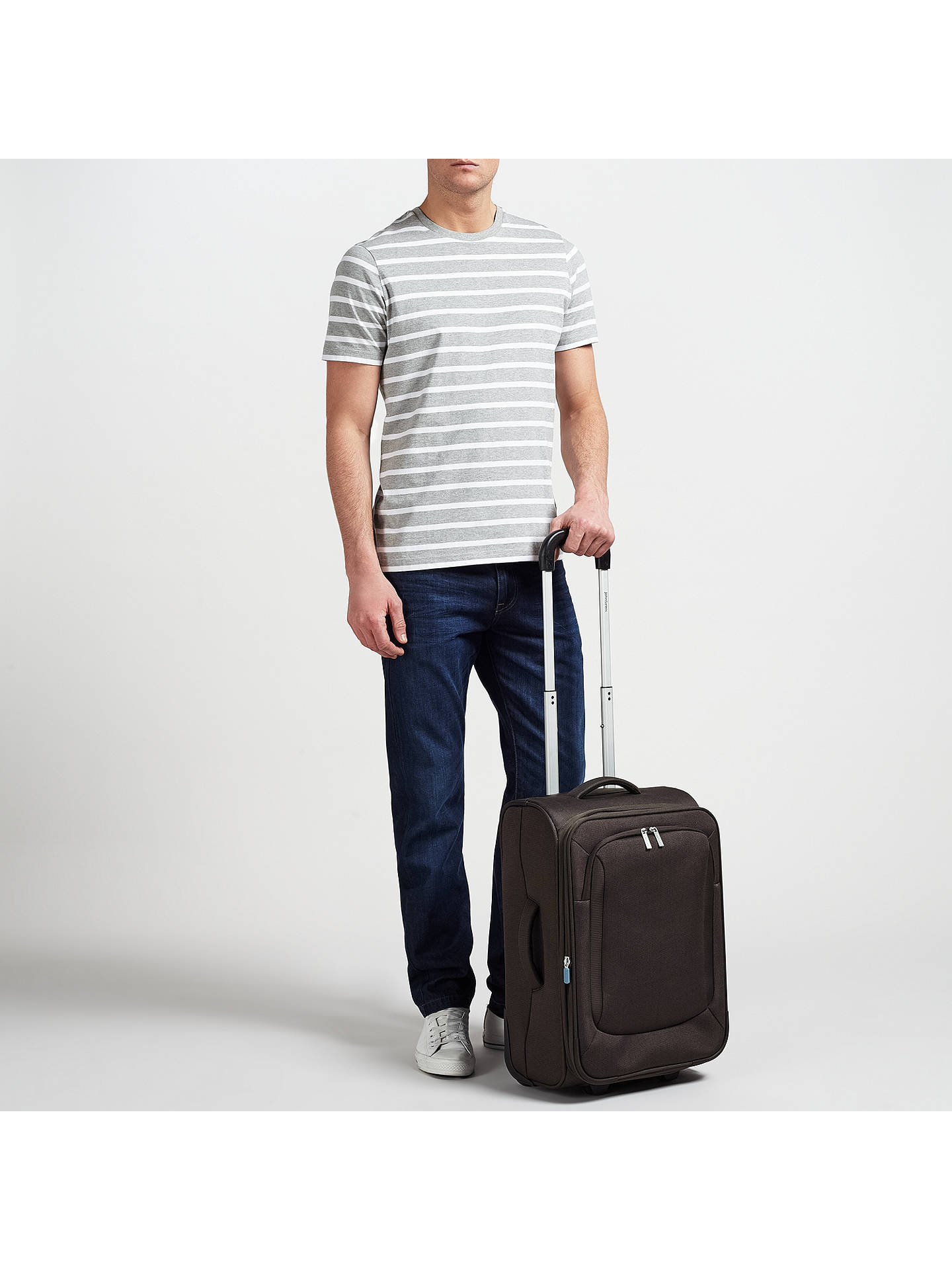 Buy John Lewis & Partners Greenwich 2-Wheel 55cm Cabin Suitcase, Graphite Online at johnlewis.com