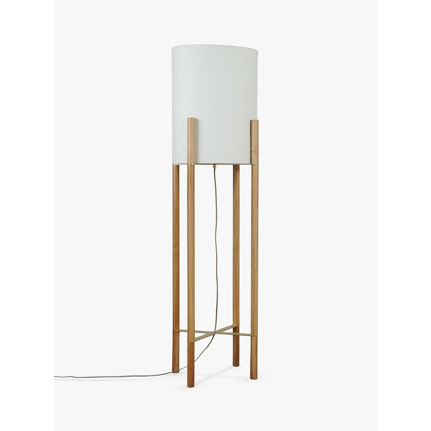 Design project by john lewis no031 oval shade floor lamp oak at buydesign project by john lewis no031 oval shade floor lamp oak online at mozeypictures Gallery