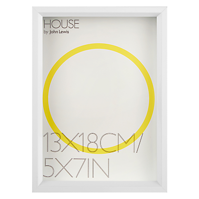 House by John Lewis Matt Aluminium Photo Frame, 5 x 7