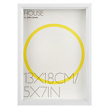 "Buy House by John Lewis Matt Aluminium Photo Frame, 5 x 7"" Online at johnlewis.com"