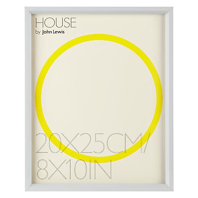 House by John Lewis Matt Aluminium Photo Frame, 8 x 10