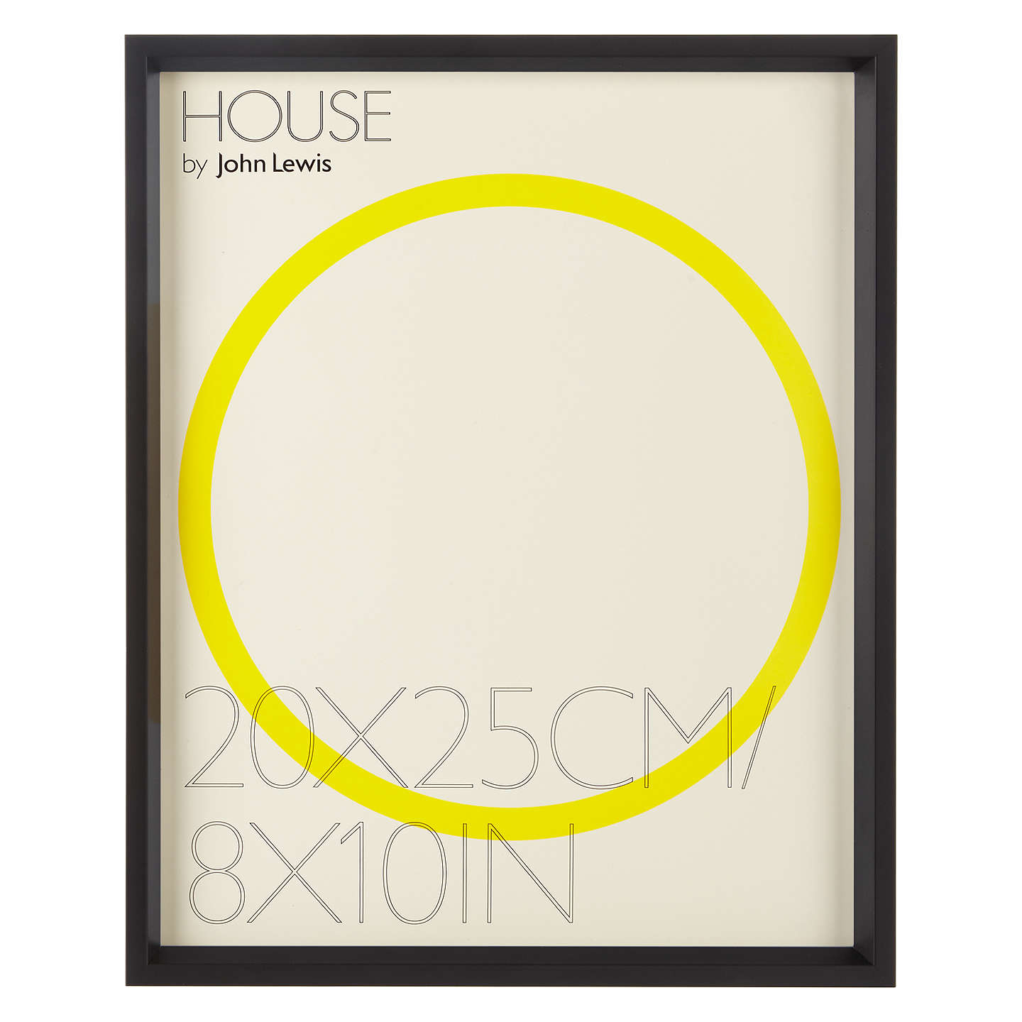 "House By John Lewis Matt Aluminium Photo Frame, 8 X 10"" At"