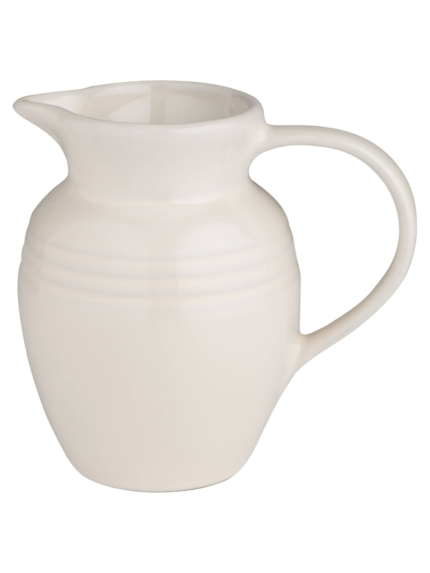 Buy Le Creuset Stoneware Breakfast Jug, 600ml, Almond Online at johnlewis.com