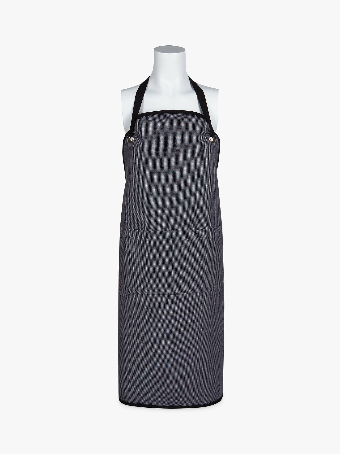 BuyJohn Lewis & Partners Chefs Collection Apron, Grey / Black Online at johnlewis.com