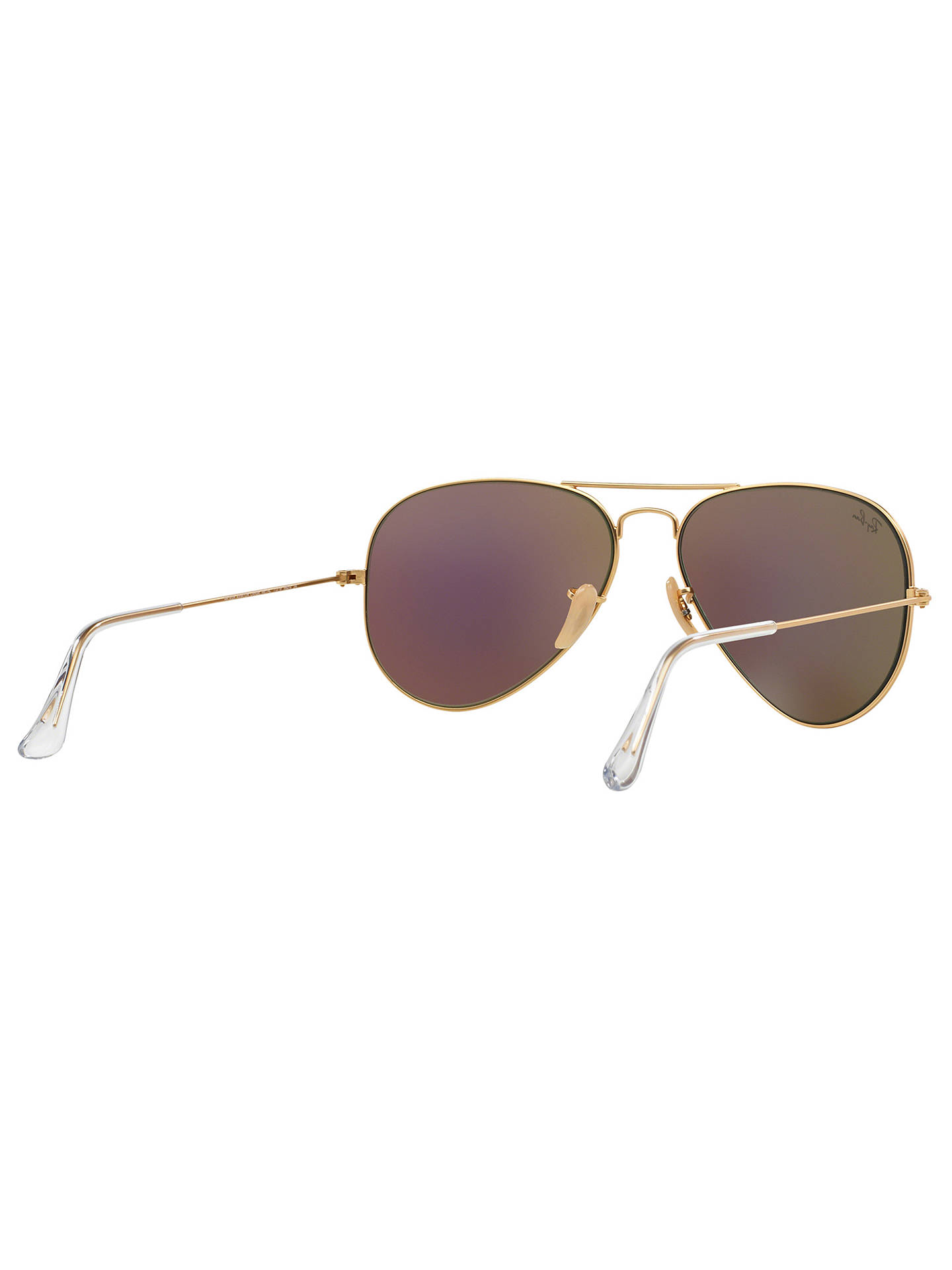Buy Ray-Ban RB3025 Aviator Sunglasses, Gold/Green Online at johnlewis.com