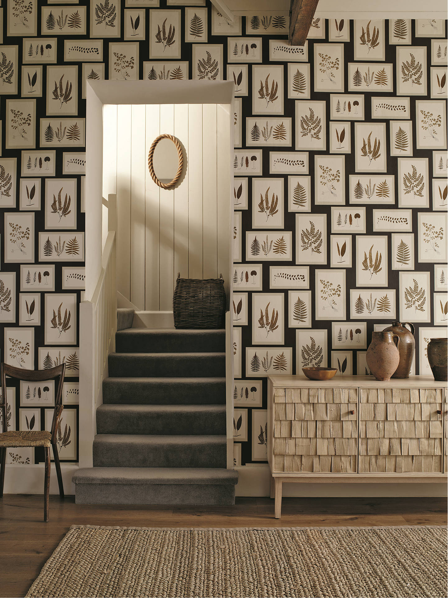BuySanderson Fern Gallery Wallpaper, Charcoal / Spice DWOW215713 Online at johnlewis.com