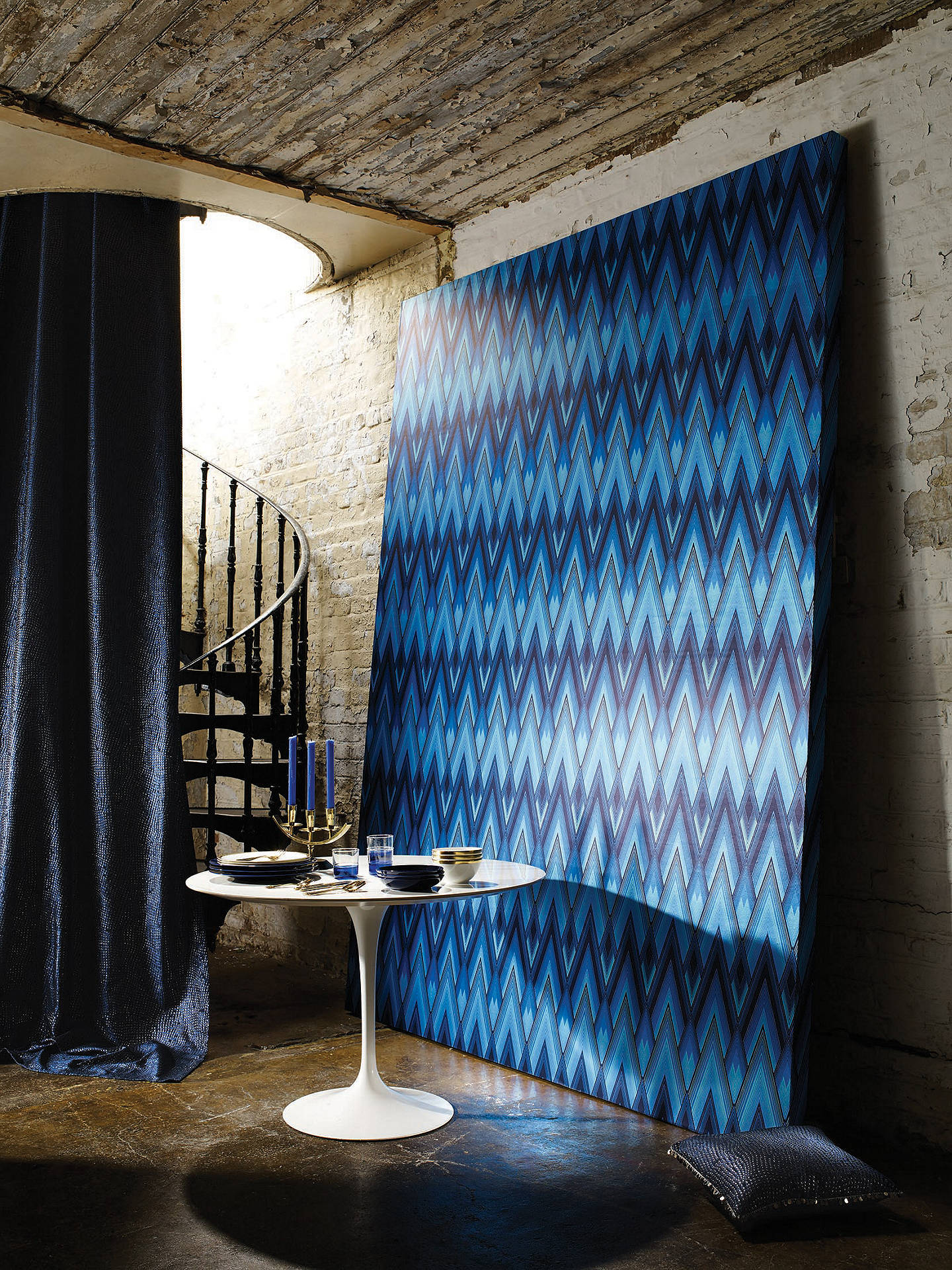 BuyOsborne & Little Astoria Wallpaper, Ultramarine, W6893-01 Online at johnlewis.com