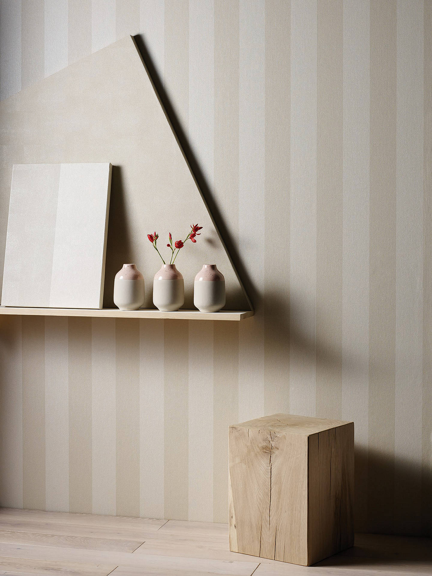 BuyOsborne & Little Metallico Stripe Wallpaper, W6903-04 Online at johnlewis.com