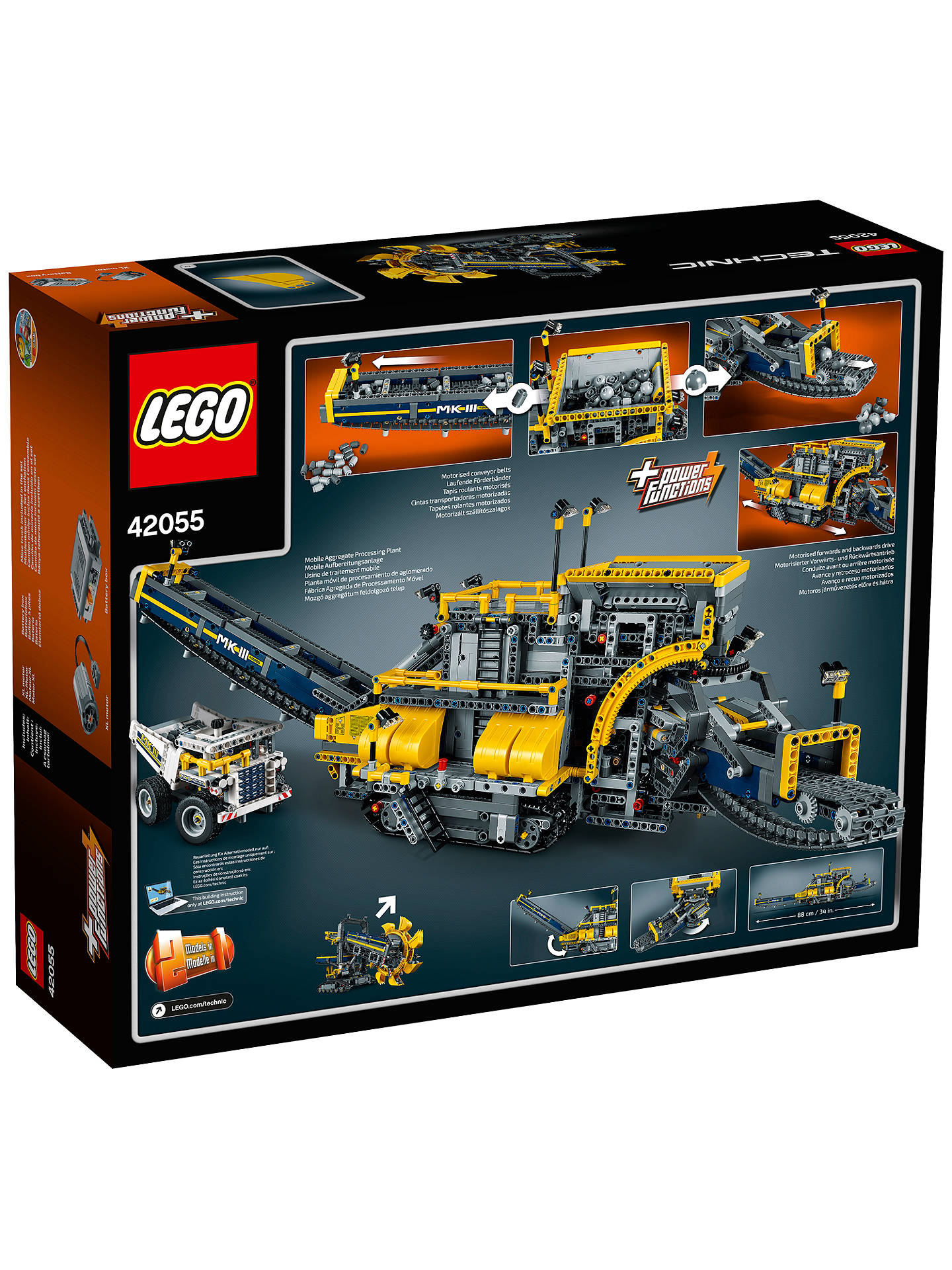 BuyLEGO Technic 42055 Bucket Wheel Excavator Online at johnlewis.com