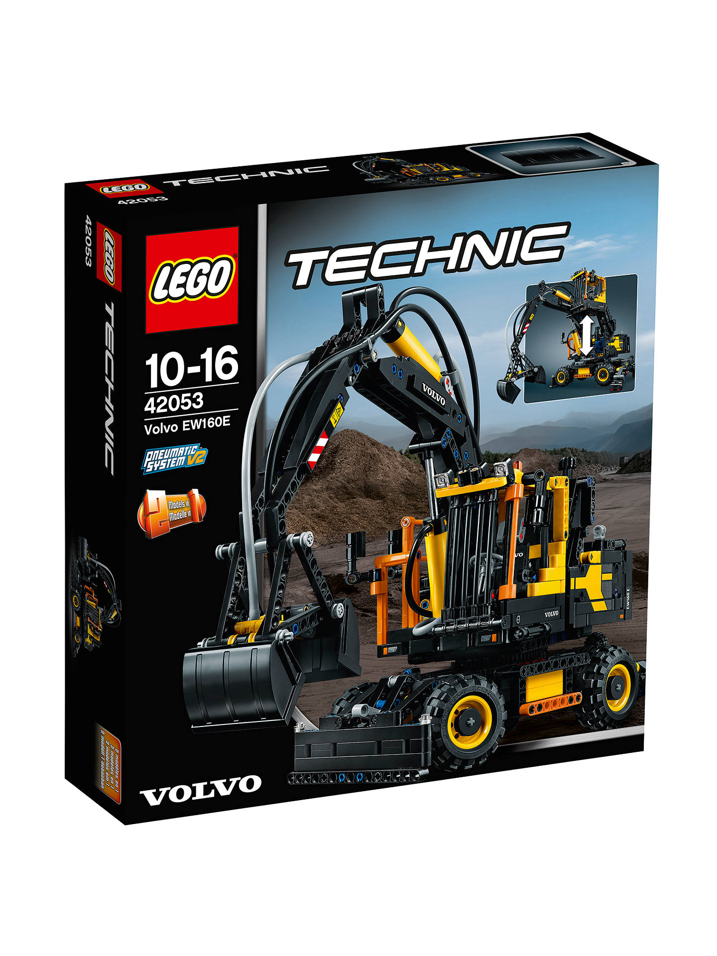 lego technic 42053 volvo ew160e at john lewis partners. Black Bedroom Furniture Sets. Home Design Ideas