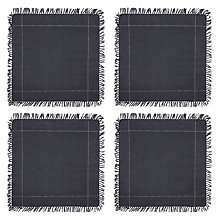 Buy John Lewis Croft Collection Startley Napkins, Set of 4, Navy Online at johnlewis.com