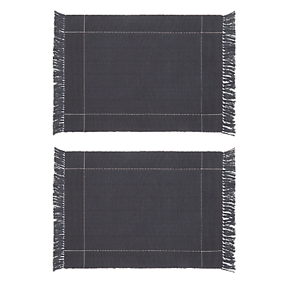 John Lewis Croft Collection Startley Placemats, Set of 2, Navy