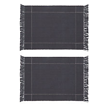Buy John Lewis Croft Collection Startley Placemats, Set of 2, Navy Online at johnlewis.com