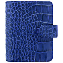 Buy Filofax Classic Croc-Effect Pocket Organiser, Indigo Online at johnlewis.com