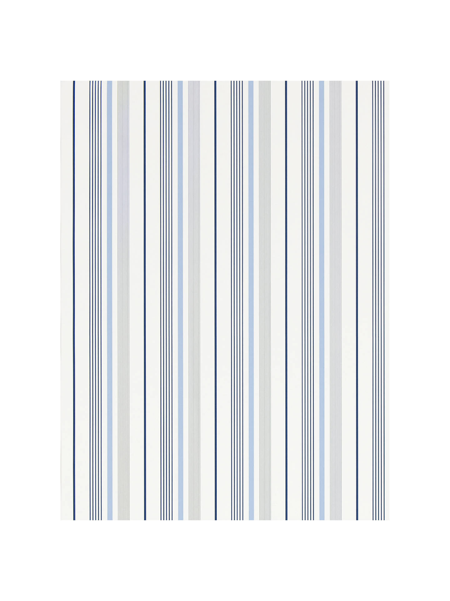 BuyRalph Lauren Gable Stripe Wallpaper, French Blue, PRL057/01 Online at johnlewis.com