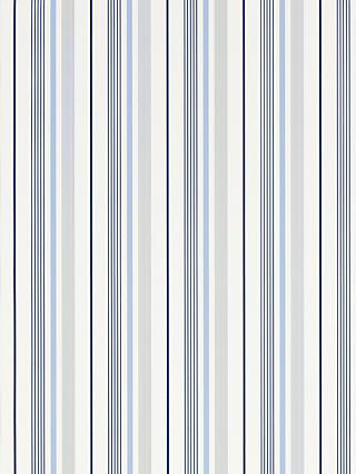 Ralph Lauren Gable Stripe Wallpaper, French Blue, PRL057/01