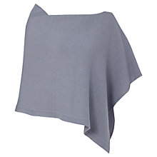 Buy Jigsaw Knitted Rib Poncho, Pitch Blue Online at johnlewis.com