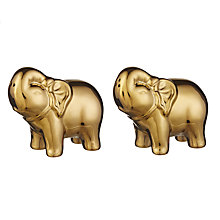 Buy Bia Elephant Salt And Pepper Set, Gold Online at johnlewis.com