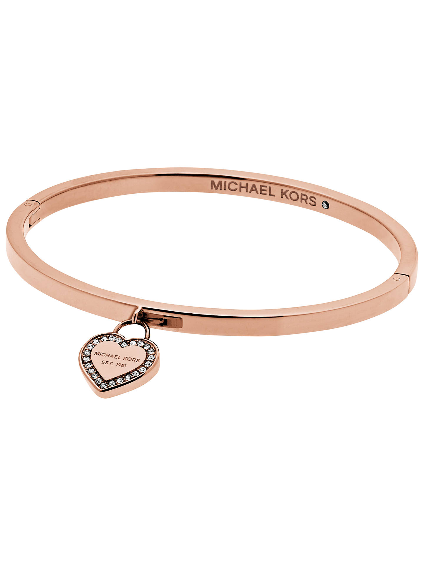 Michael Kors Heart Bangle Rose Gold Mkj5039791 Online At Johnlewis