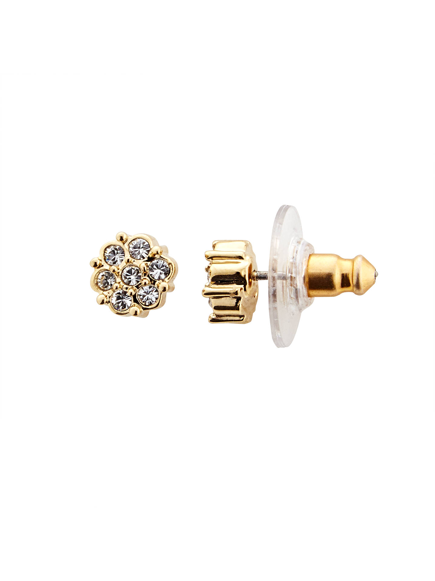 cfcff3186e2e8 Cachet Gold Plated Swarovski Crystal Stud Earrings, Gold