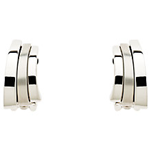 Buy Finesse Shiny and Matte Arc Clip-On Earrings, Silver Online at johnlewis.com