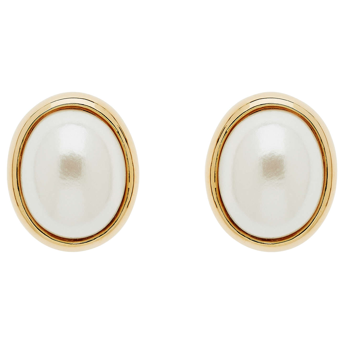 large on gold pearl clip bafc white yooladesign yoola stud post earrings products